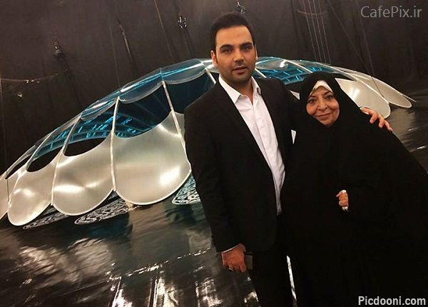 عکس احسان علیخانی و مادرش