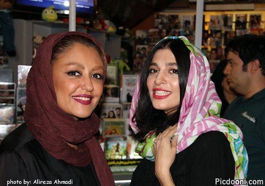 عکس شقایق فراهانی و اندیشه فولادوند در اکران فیلم خانوم