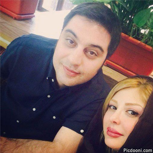عکس سلفی جدید نیوشا ضیغمی و همسرش