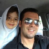 عکس پژمان بازغی و دخترش نفس در اول مهر