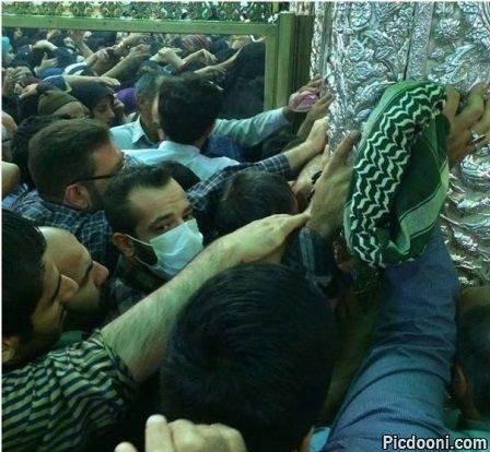 عکس امیر تتلو در حرم امام رضا مشهد