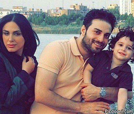 عکس بابک جهانبخش با همسر و فرزندش