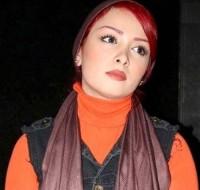 عکس فرناز رهنما با موی قرمز