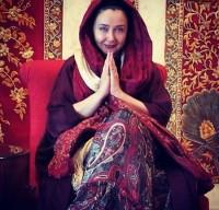 عکس کتایون ریاحی با لباس هندی