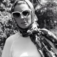 عکس سیاه و سفید از لیلا حاتمی