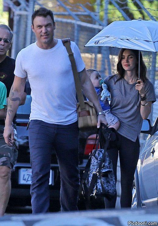 عکس جدید مگان فاکس همراه با همسر و فرزندش