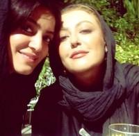 عکس سلفی شقایق فراهانی با دوستش