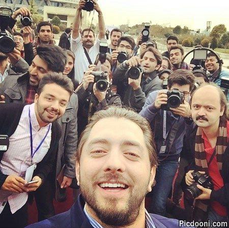 عکس سلفی بهرام رادان در جشنواره فیلم فجر