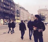 عکس بنیامین بهادری در هامبورگ
