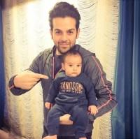 عکس عماد طالب زاده و پسرش