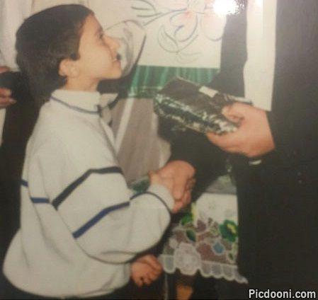 عکس مرتضی پاشایی در دوران مدرسه