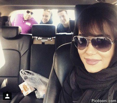 عکس سلفی پریناز ایزدیار با دوستانش در ماشین