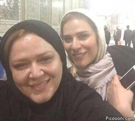 عکس سلفی بهاره رهنما و سحر دولتشاهی در مشهد