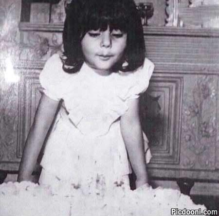 عکس کودکی هنگامه قاضیانی