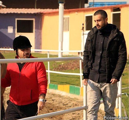 عکس جدید مهرداد صدیقیان در باشگاه اسب سواری
