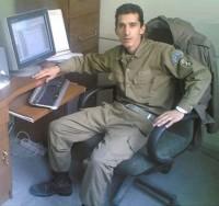 عکس مرتضی پاشایی در سربازی