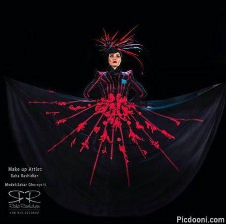 عکس جدید سحر قریشی با لباس عجیب