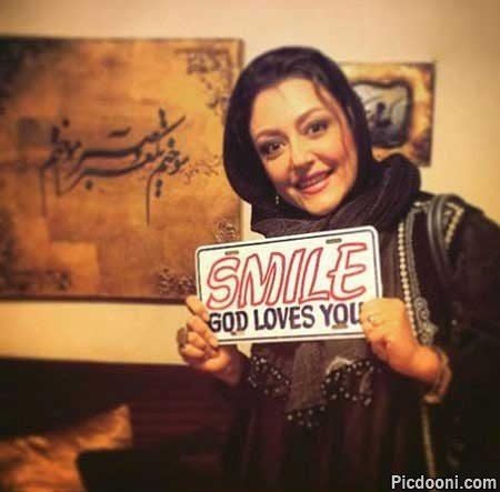 عکس شقایق فراهانی با لبخند