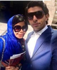 عکس سلفی وحید طالبلو و همسرش