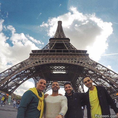 عکس سلفی جدید زانیار و سیروان خسروی در پاریس