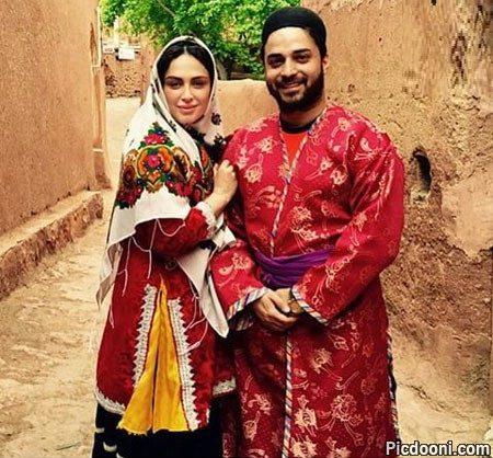 عکس جدید بابک جهانبخش و همسرش با لباس محلی