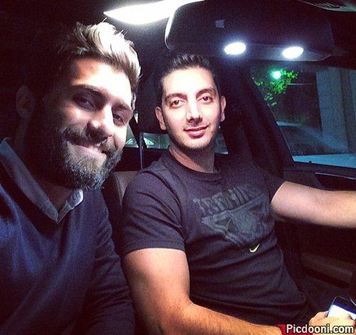 عکس فرزاد فرزین در ماشین