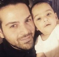 عکس سلفی عماد طالب زاده و پسرش