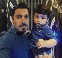 عکس سلفی احسان خواجه امیری با پسرش