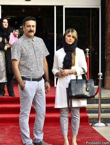 عکس حمیدرضا پگاه و همسرش