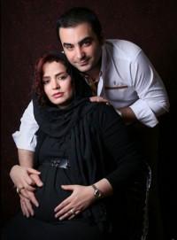 عکس بارداری سپیده خداوردی همراه با همسرش