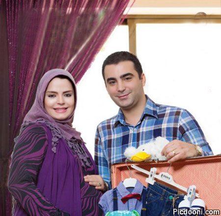 عکس بارداری سپیده خداوردی همسرش