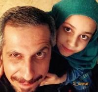 عکس سلفی جواد رضویان با دخترش