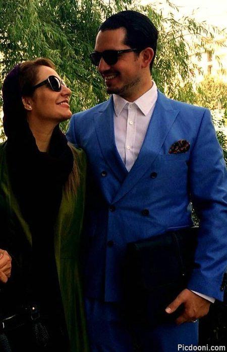 عکس مهناز افشار و همسرش