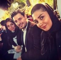 عکس سلفی مریم معصومی با جواد عزتی و همسرش