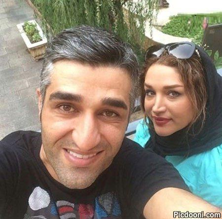 عکس سلفی پژمان جمشیدی با خواهرش