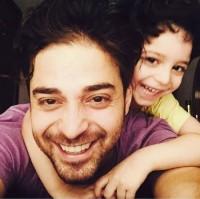 عکس سلفی بابک جهانبخش با پسرش آرتا