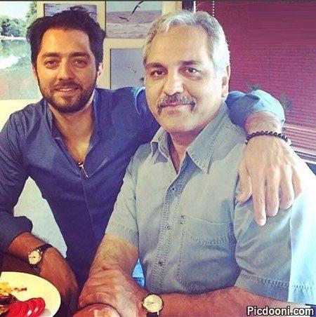 عکس مهران مدیری و بهرام رادان
