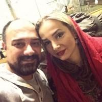 عکس سلفی برزو ارجمند با همسرش