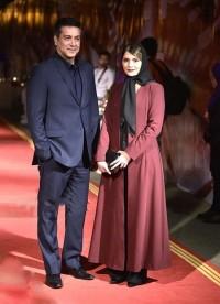 عکس حمیدرضا پگاه و همسرش در جشن خانه سینما