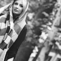 عکس سیاه و سفید نیوشا ضیغمی
