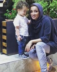 عکس جدید روناک یونسی و پسرش مهرسام