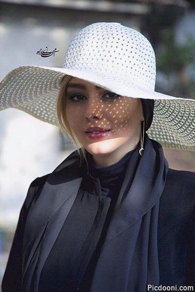عکس جدید سحر قریشی با کلاه سفید