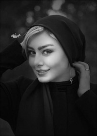 عکس سیاه و سفید سحر قریشی