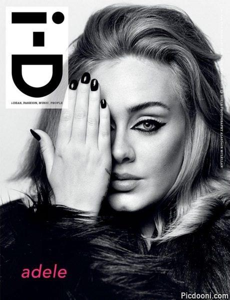 عکس ادل در مجله id
