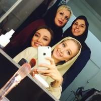 عکس الناز حبیبی با گریم جدید