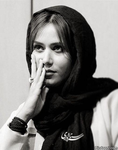عکس سیاه و سفید پریناز ایزدیار