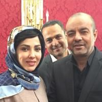 عکس لیلا اوتادی با سعید آقاخانی و حسین یاری