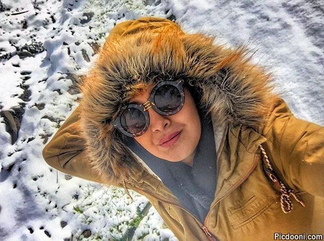 عکس مریم معصومی در برف