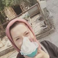 عکس مهراوه شریفی نیا با بستنی
