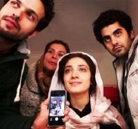 عکس مینا ساداتی در پشت صحنه فیلم امکان مینا